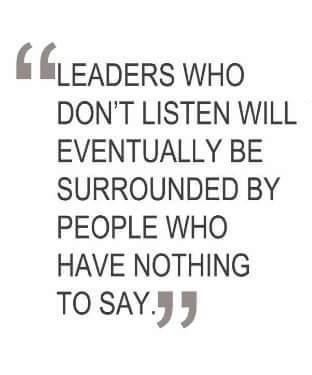 Leaders who dont listen