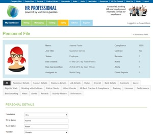 Personnel Files powered by Workforce Guardian